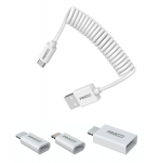 USB Spiral Cable all in 1